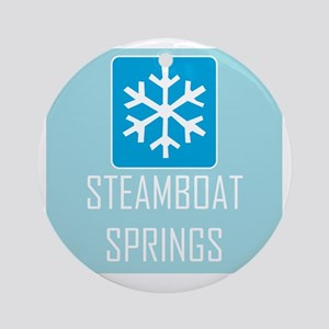 Steamboat Springs Snowflake Round Ornament