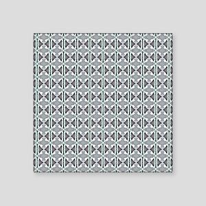 "Fancy Painted Art Pattern Square Sticker 3"" x 3"""