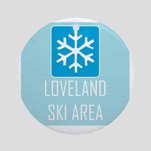 Loveland Snowflake Round Ornament