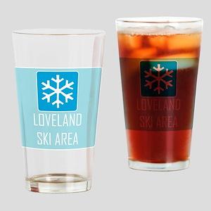 Loveland Snowflake Drinking Glass