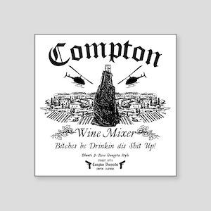 """Compton Wine Mixer Square Sticker 3"""" x 3"""""""