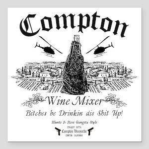 "Compton Wine Mixer Square Car Magnet 3"" x 3"""