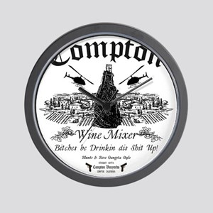 Compton Wine Mixer Wall Clock