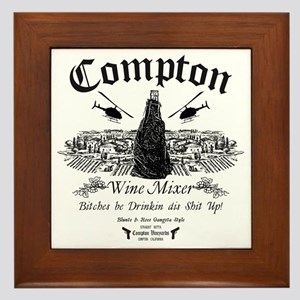 Compton Wine Mixer Framed Tile