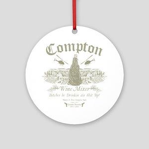Compton Wine Mixer Round Ornament