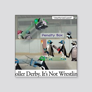 """Roller Derby - Its Not Wres Square Sticker 3"""" x 3"""""""