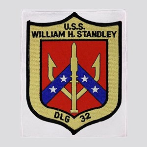 uss william h. standley dlg patch tr Throw Blanket