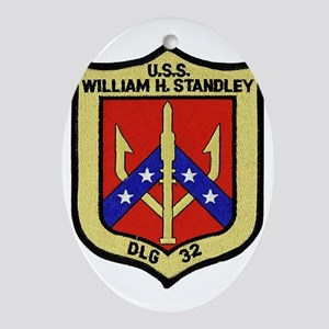 uss william h. standley dlg patch tr Oval Ornament