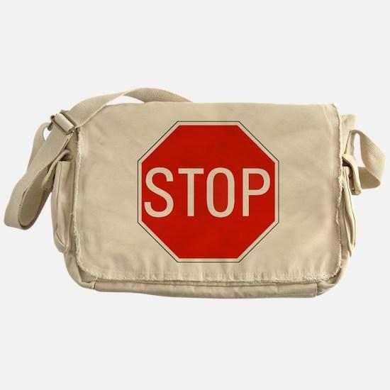 stop sign 10x10 Messenger Bag