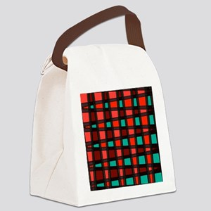 Stylish Funky Art Pattern Canvas Lunch Bag