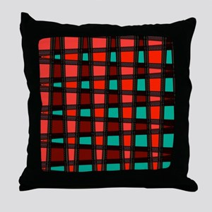 Stylish Funky Art Pattern Throw Pillow
