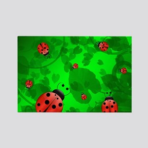 Ladybugs Rectangle Magnet