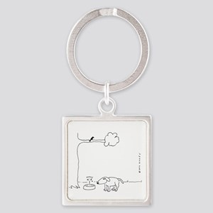 BIRD DOO DOG Square Keychain