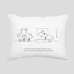 OLD DOG Rectangular Canvas Pillow