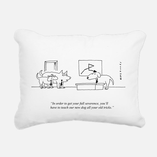 OLD DOG Rectangular Canvas Pillow