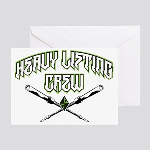 HEAVY LIFTING CREW Greeting Card