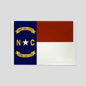 North Carolina United States Flag Rectangle Magnet