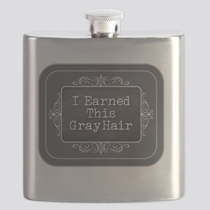 I Earned This Gray Hair Flask