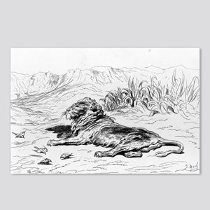 Lion - Gustave Dore - c1860 Postcards (Package of