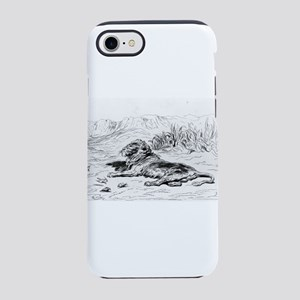Lion - Gustave Dore - c1860 iPhone 7 Tough Case