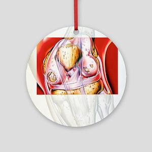 Artwork showing rheumatoid arthriti Round Ornament