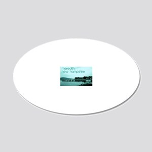 Meredith, New Hampshire 20x12 Oval Wall Decal