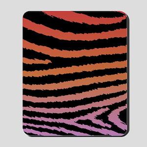 Girly Fashion Jagged Zebra Print Mousepad