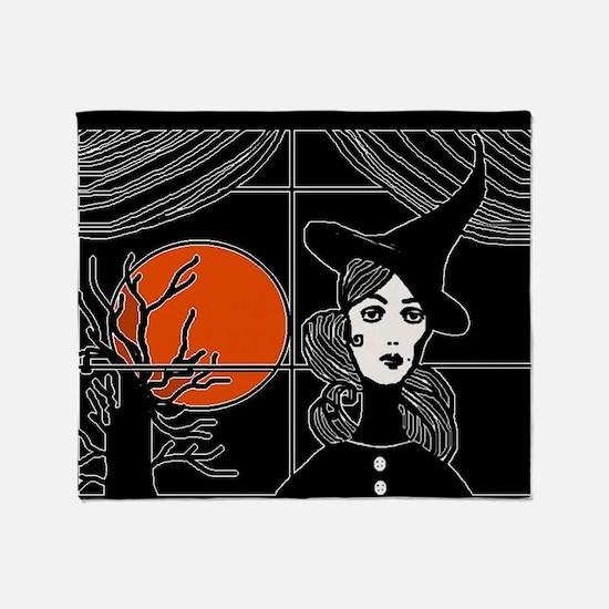 Moonlit Window Throw Blanket