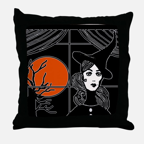 Moonlit Window Throw Pillow