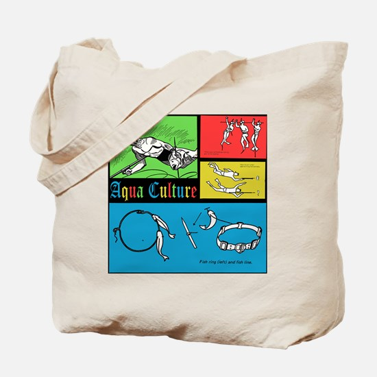 AQUA CULTURE retro graphic Tote Bag