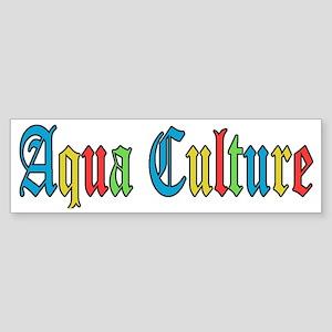 AQUA CULTURE retro graphic Sticker (Bumper)