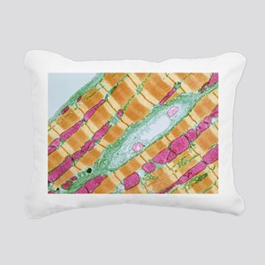 Cardiac muscle, TEM Rectangular Canvas Pillow