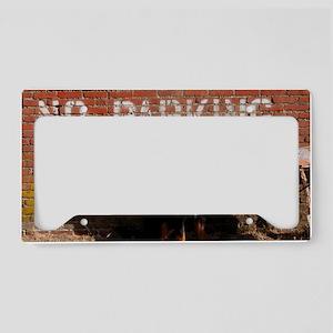 No Barking License Plate Holder