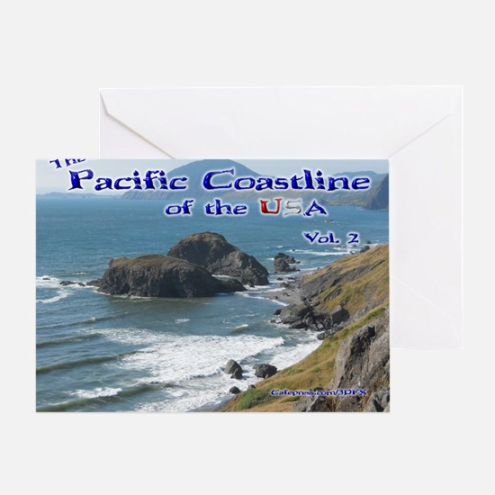 Pacific Coastline of USA Calendar Greeting Card