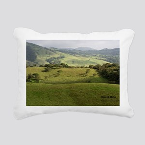Costa Rica fields Rectangular Canvas Pillow