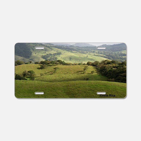 Costa Rica fields Aluminum License Plate