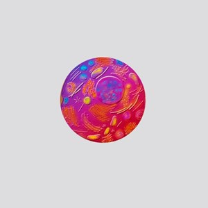 Computer graphic of animal cell Mini Button