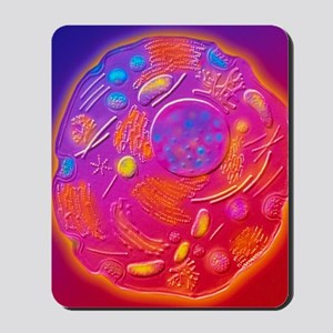 Computer graphic of animal cell Mousepad