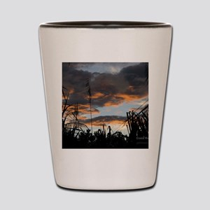 Arenal trail at sunset Shot Glass