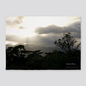 Sunset at Arenal 5'x7'Area Rug