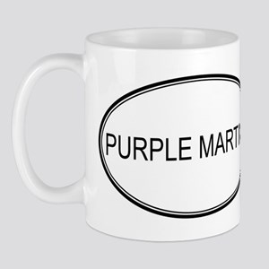 Oval Design: PURPLE MARTINS Mug