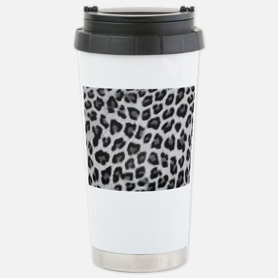 Snow Leopard Stainless Steel Travel Mug