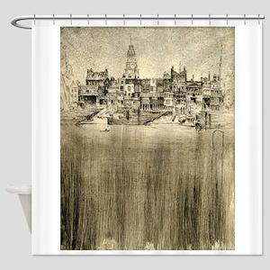 Limehouse - Joseph Pennell - 1906 Shower Curtain