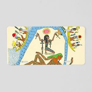 Egyptian creation myth Aluminum License Plate