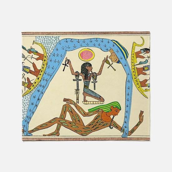 Egyptian creation myth Throw Blanket