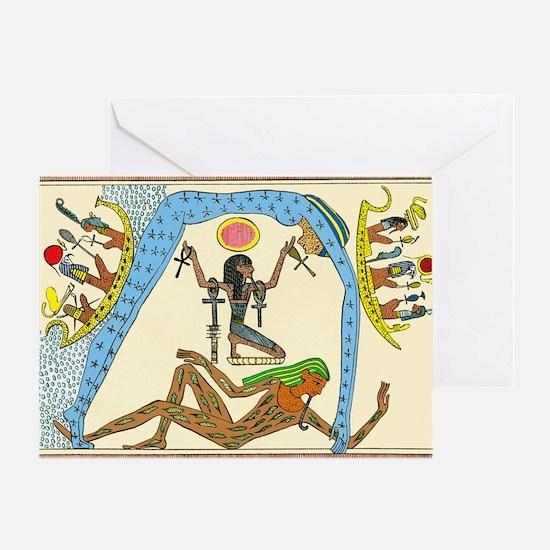 Egyptian creation myth Greeting Card
