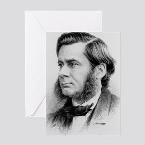 Engraving of biologist Thomas Huxley Greeting Card