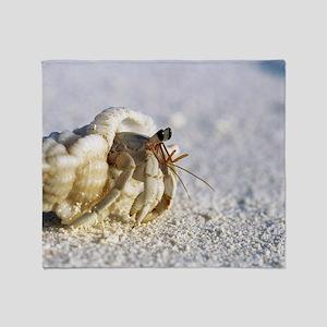 Juvenile land hermit crab Throw Blanket