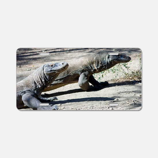 Komodo dragons Aluminum License Plate