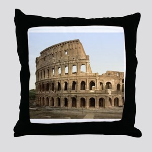 Vintage Colosseum Throw Pillow